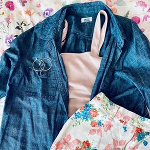 Old Navy chambray button-up